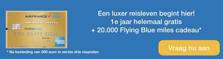 American Express Flying Blue Gold kaart: Is hij 170 euro per jaar waard?​
