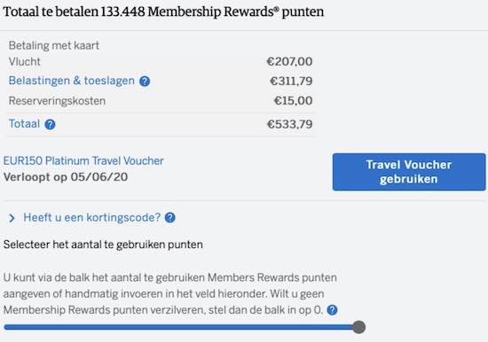 American Express travel voucher AMEX 2