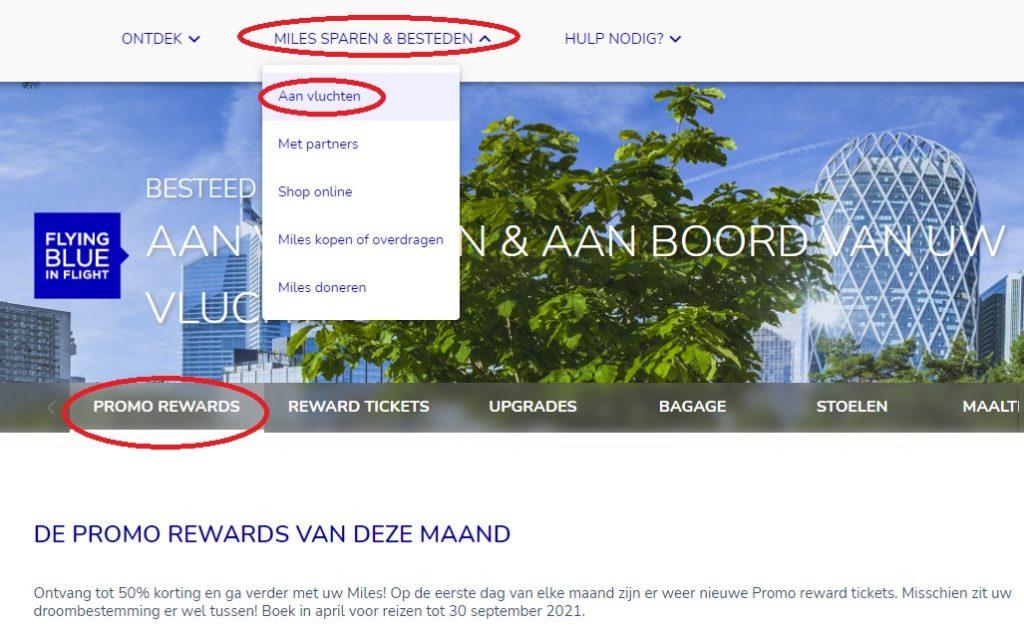 KLM Flying Blue promo awards 2